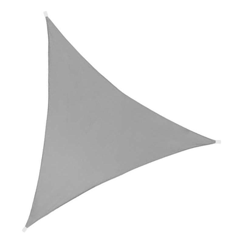 Toile d'ombrage triangulaire 3 mètres Gris foncé - Gris foncé