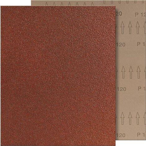 TOILE-ÉMERI MARRON 230X280MM GRAIN 40 FORMAT