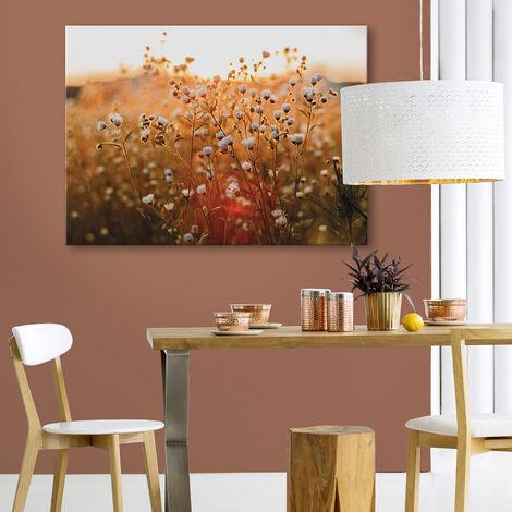 Toile Fleurs des champ 70 x 100cm Orange, Blanc