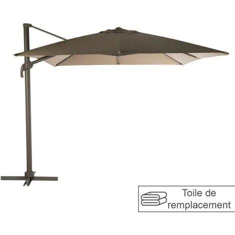 Toile hexagonale parasol Eléa 4.2x3 m noisette Hespéride - Marron
