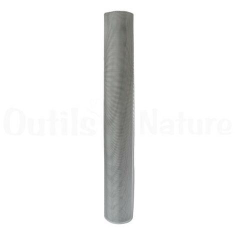 Toile moustiquaire à mailles fines aluminium largeur 120 cm (rouleau de 30m)