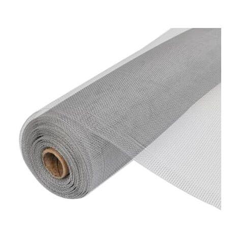 Toile moustiquaire de porte/fenetre Aluminium 100x1000cm argent