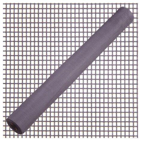 Toile moustiquaire fibre de verre grise rouleau 50 mètres / 100