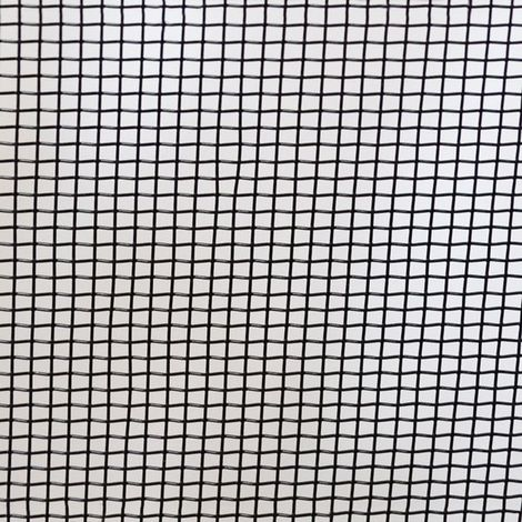 Toile moustiquaire noir à mailles fines largeur 100 cm