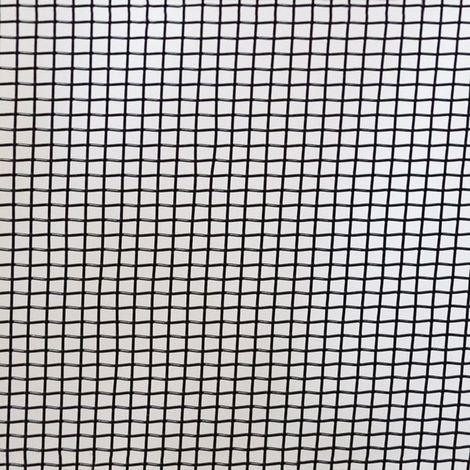 Toile moustiquaire noir à mailles fines largeur 120 cm