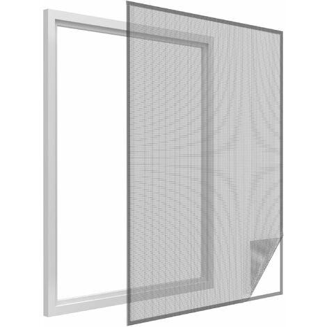 Toile moustiquaire pour fenêtre avec bande de fixation 300x150 cm 300x150 cm