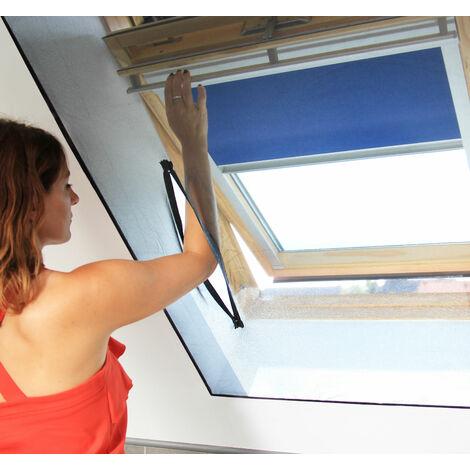 Toile moustiquaire zippée pour fenêtre de toit