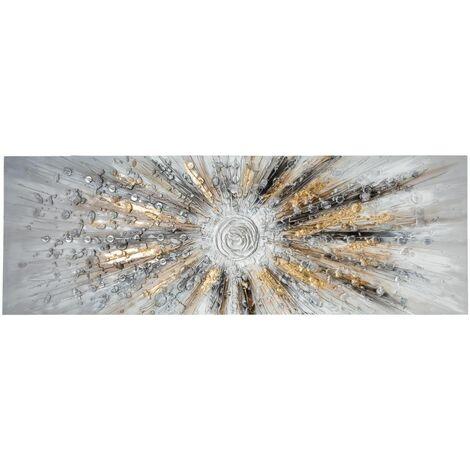 """main image of """"Atmosphera - Tableau Toile murale Peinture en relief Soleil 150 x 50 cm"""""""