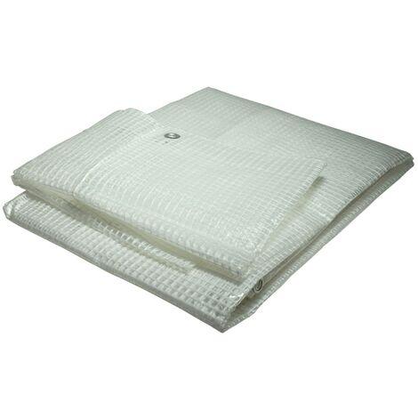 Toile pour pergola et tonnelle 4 x 10 m 170g/m² - Bâche pour pergola et tonnelle transparente - 4x10 m en polyéthylène