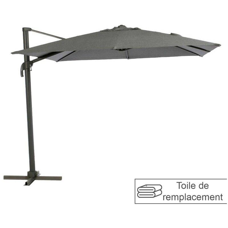 Toile remplacement carrée anthracite pour parasol Elea Hespéride - Gris Anthracite - HESPERIDE