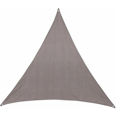 Toile solaire 3x3x3m Hespéride Anori taupe - Taupe - Forme triangulaire 3m
