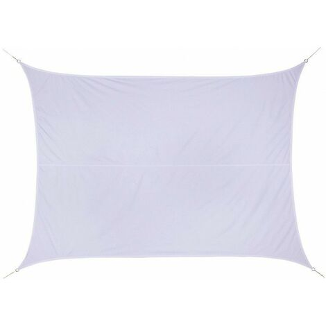 """main image of """"Toile solaire 3x4m Curacao blanc Hespéride - Blanc, forme rectangulaire 3 x 4m"""""""