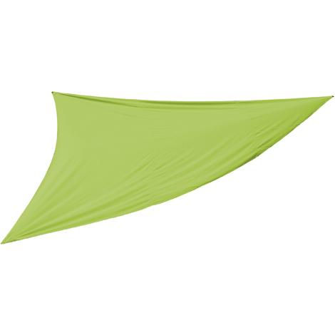 Toile solaire trangulaire coloris vert- Dim : 5 X 5 X 5 cm -PEGANE-