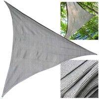 Toile solaire Voile ombrage Protection solaire UV Respirant PEHD Gris 4x4 m Carré Tissu Balcon