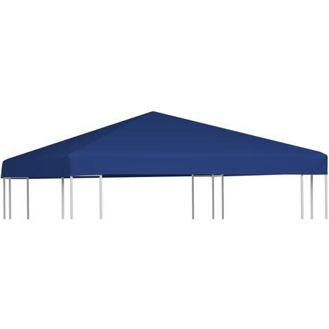 Toile supérieure de belvédère 310 g / m² 3 x 3 m Bleu