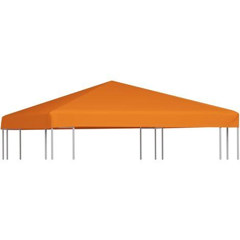 Toile supérieure de belvédère 310 g / m² 3 x 3 m Orange