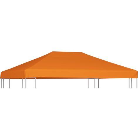 Toile supérieure de belvédère 310 g / m² 4 x 3 m Orange