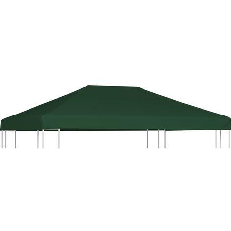 Toile supérieure de belvédère 310 g / m² 4 x 3 m Vert