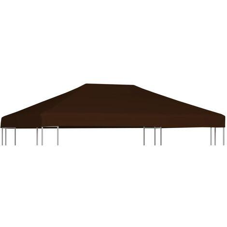 Toile supérieure de gazebo 310 g/m² 3x4 m Marron