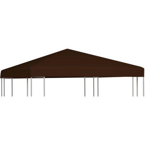 Toile superieure de gazebo 310 g/m2 3x3 m Marron
