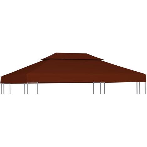 Toile superieure double de belvedere 310 g/m2 4x3 m Terre cuite