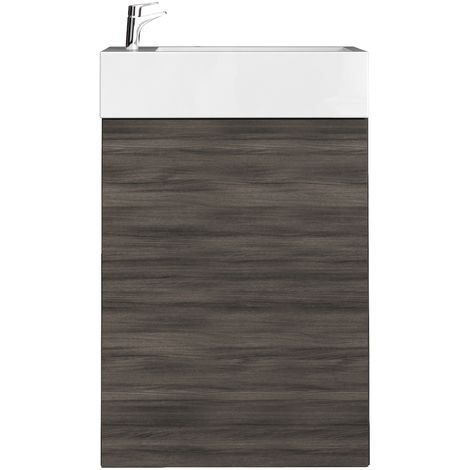 Toilet bathroom furniture Angela 40x22 cm Grey oak - cabinet sink bathroom toilet