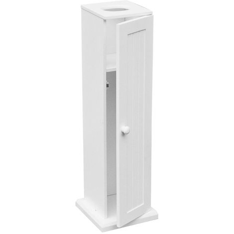 Toilet Paper Cabinet,White Wood