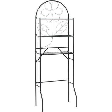 Toilet Rack Black 60x33x174 cm