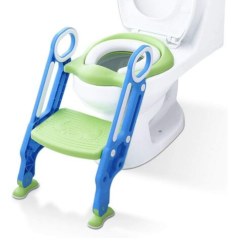 """main image of """"Toilet Reducer with Ladder Steps, Anti-slip, Sturdy, Foldable and Adjustable Baby Toilet Seat, Toilet Reducer for Children 1-7 Years"""""""