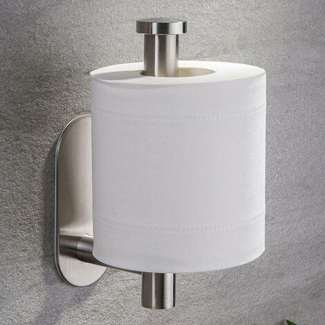 Toilet Roll Holder Self Adhesive Stick on Wall Paper Tissue Rack