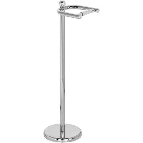 Toilet Roll Holder,Chrome Floor Standing