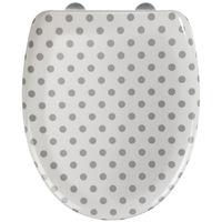 Toilet Seat Punto white/grey, Duroplast WENKO