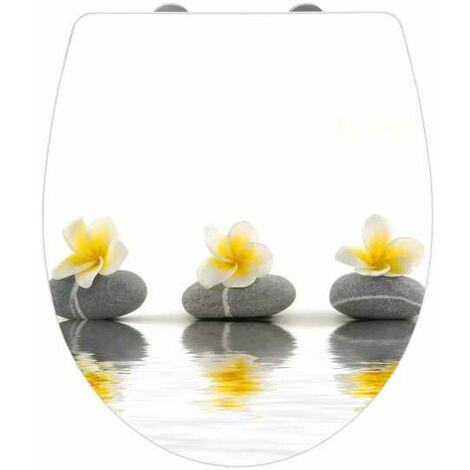 Toilet seat Stones with Flowers Acrylic WENKO