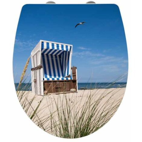 Toilet seat Wicker Beach Chair Acrylic WENKO