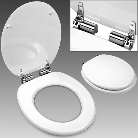 Toilet Seat with Slow Close Automatic and Stainless Steel Hinges - Motif Choice