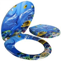 Toilet Seat with Slow Close Automatic made of High Quality Duroplast