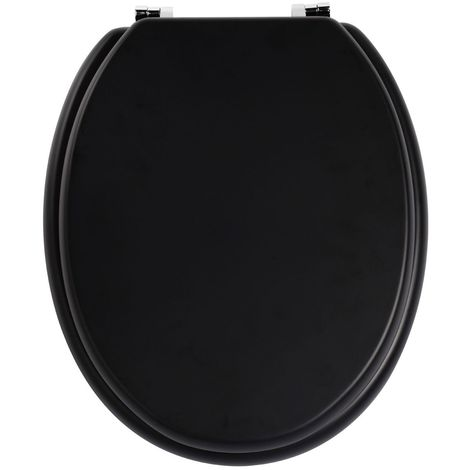 Toilet Seat,Matt Black,Zinc Alloy Fittings