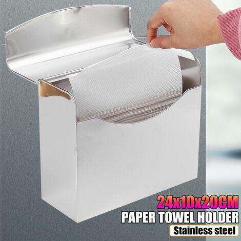 Toilet Tissue Dispenser Box Holder Closed Paper Napkins Waterproof Wall Mount Tissue Box