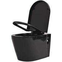 Toilette murale Céramique Noir