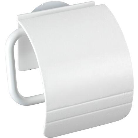Toilettenpapierhalter Klorollenhalter Bad WC Edelstahl selbstklebend Osimo Weiß