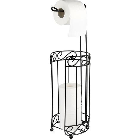 Toilettenpapierhalter  WC-Papierrollenständer   Klopapierhalter   Schwarz Zylinder