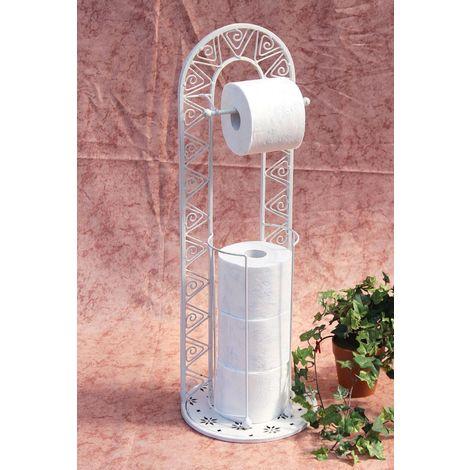 Toilettenrollenständer 091427 Weiß 70 cm Toilettenpapierhalter WC - Rollenständer