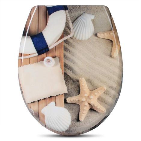 Toilettensitz WS2551 Duroplast Toilettendeckel Klodeckel mit Absenkautomatik
