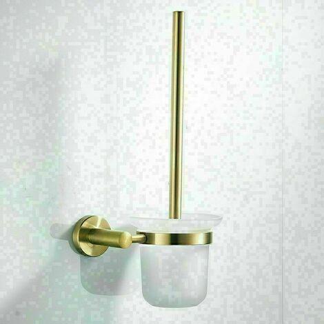 Toilettes Brosse de Nettoyage Brosse, for Toilettes Porte Mural d'or en Acier Inoxydable Brossé Bain Étagère Accessoires De Bain WC Brosse Salle De Bains Matériel pour Salle de Bains