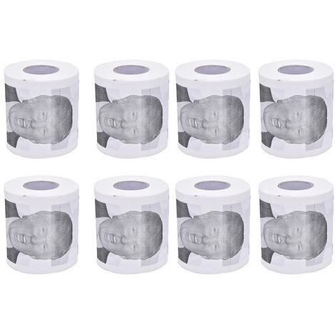Toilettes Rouleau De Papier Nouveaute Drole Cadeau De Baillon Dump Avec Trump, 8 Rouleaux