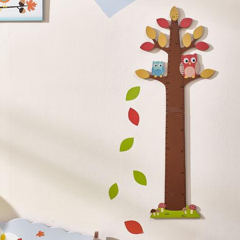 Toise murale en bois pour chambre enfant bébé mixte échelle croissance Enchanted Woodland TD-11737A