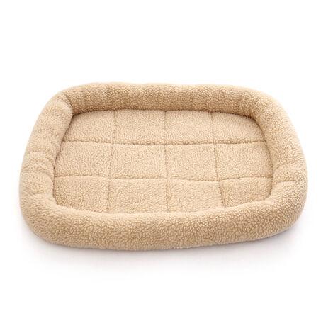Toison Pet Etanche Lit Hiver Chaud Lit Pour Chien Chat Lit Mat Chaise Longue Canape Coussin Kennel Pet Products, Beige, M