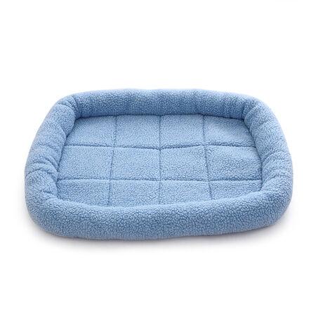Toison Pet Etanche Lit Hiver Chaud Lit Pour Chien Chat Lit Mat Chaise Longue Canape Coussin Kennel Pet Products, Bleu, L