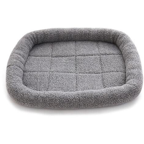 Toison Pet Etanche Lit Hiver Chaud Lit Pour Chien Chat Lit Mat Chaise Longue Canape Coussin Kennel Pet Products, Gris, L