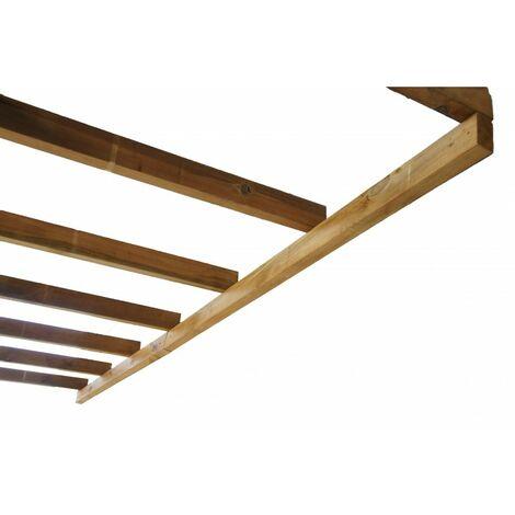 Toit Couv'Terrasse® en bois 3x2 m - Sans toit polycarbonate